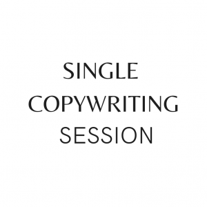 A white background with the words Single Copywriting Session in black text